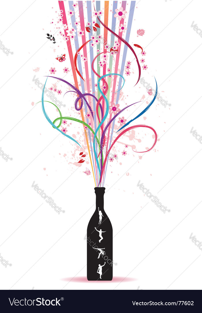 Magic bottle vector