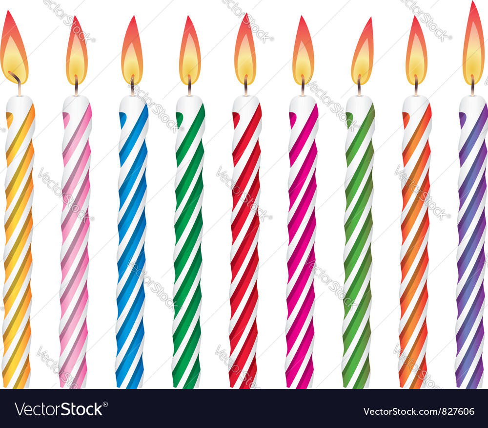 Birthday candles vector art - Download Birthday vectors - 827606