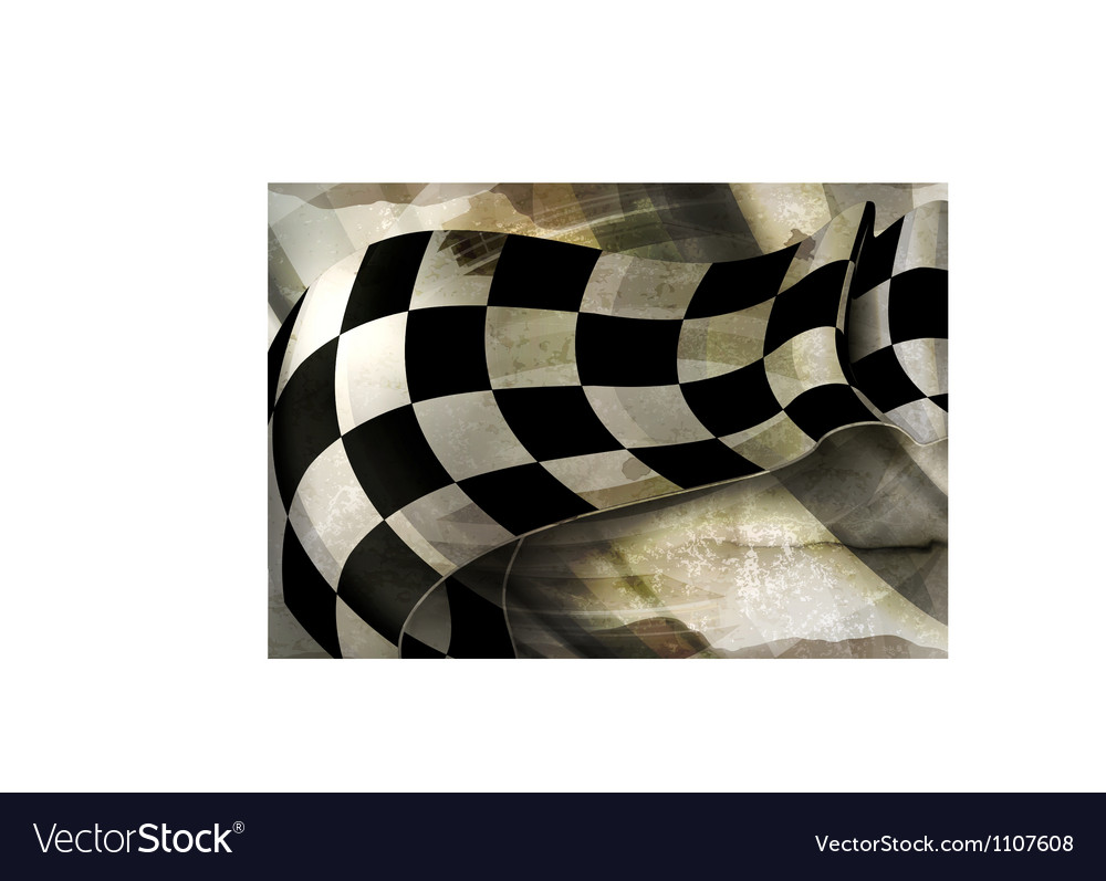Background horizontal checkered old-style vector