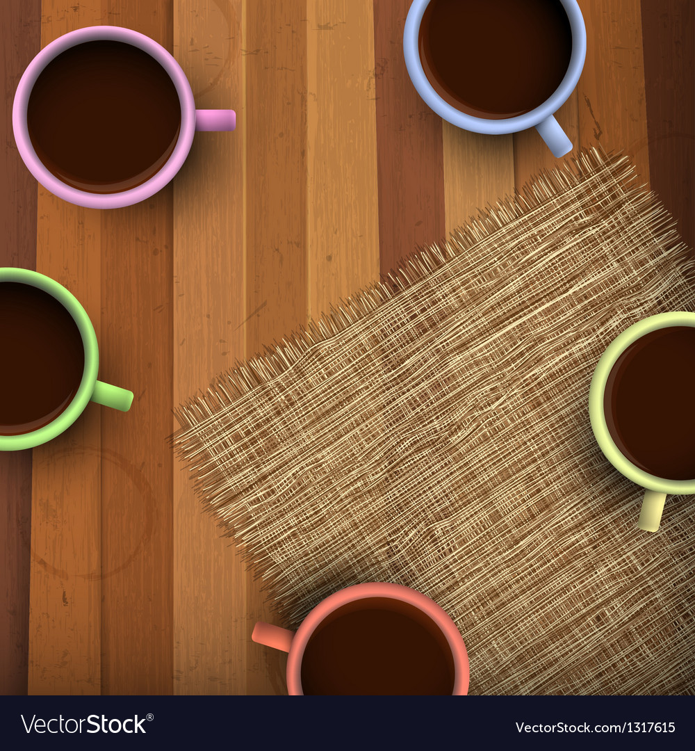 Colored cup of coffee vector