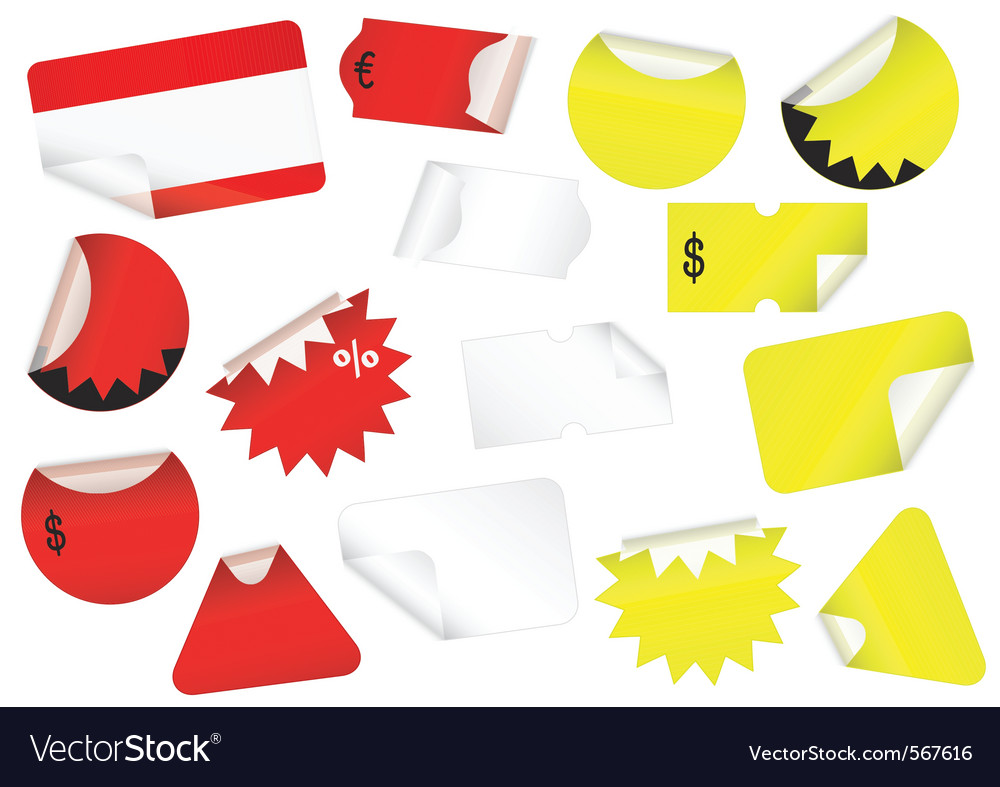 Set of retail tags vector