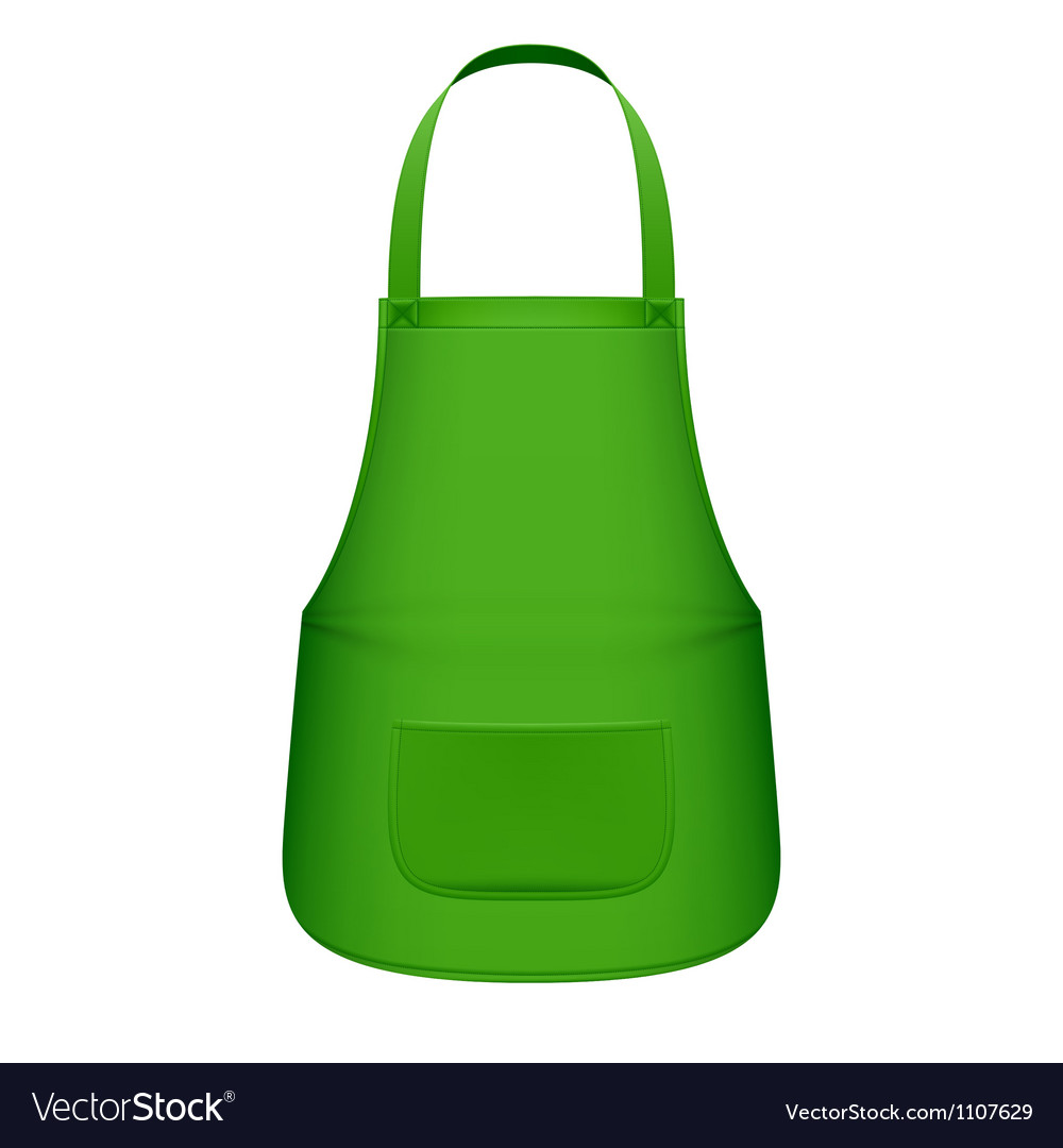 Green kitchen apron vector