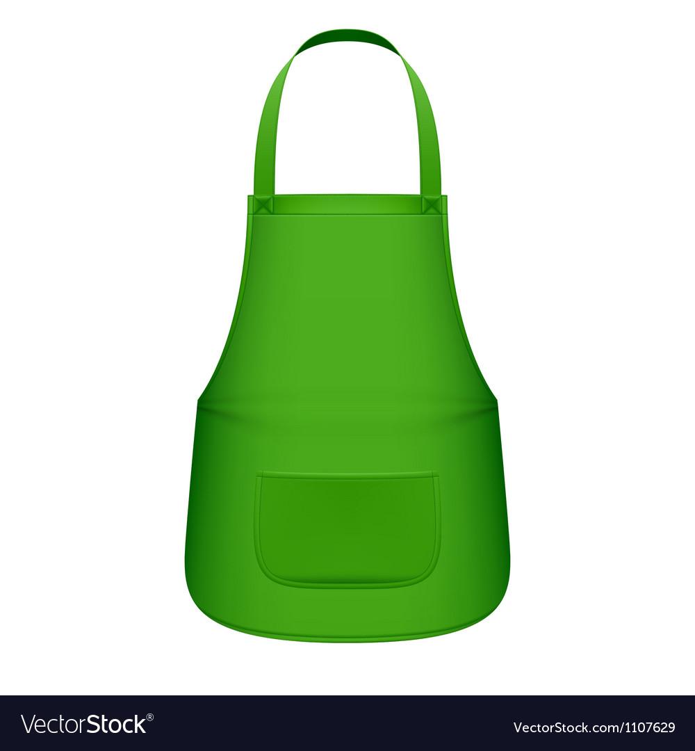 Green kitchen apron vector