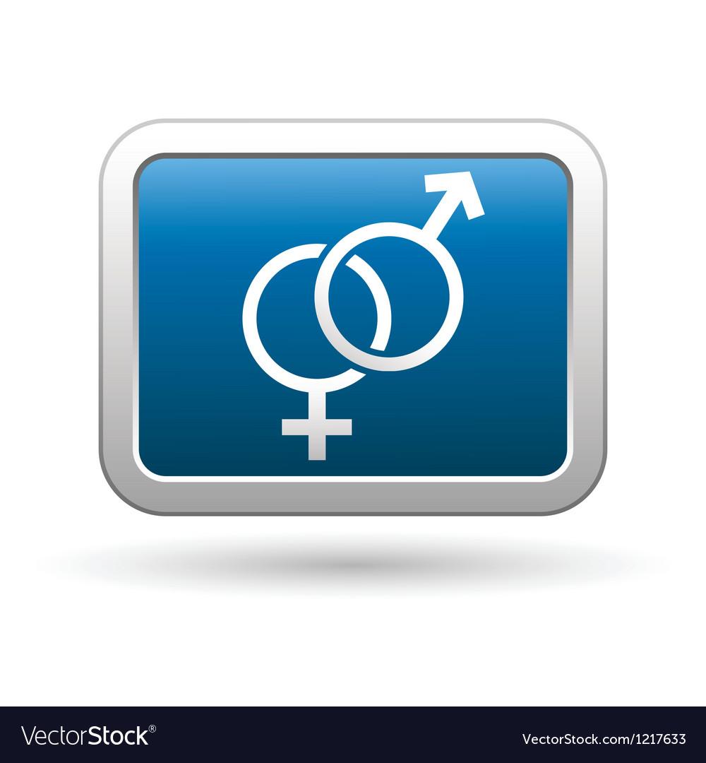 Female and male symbol icon vector