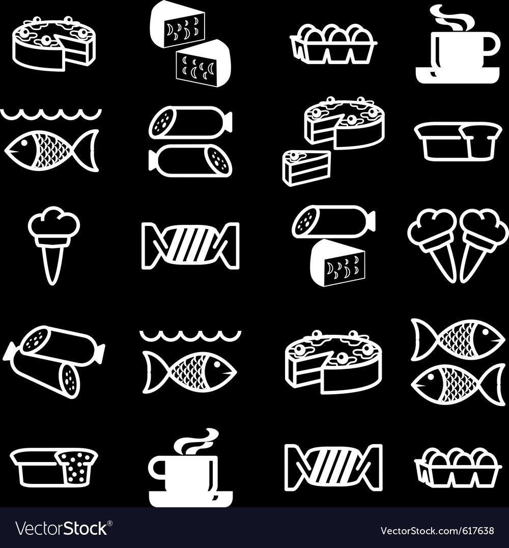 Food theme icons vector