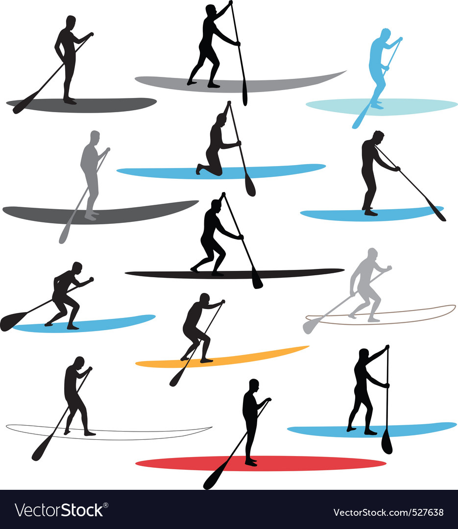 Free stand up paddle boarding sup vector
