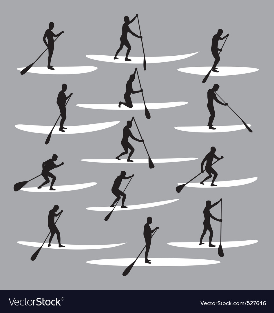 Free stand up paddle boarding vector