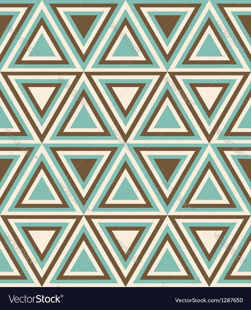Fashion pattern with triangles vector