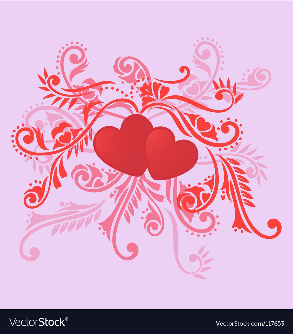 Love decoration vector