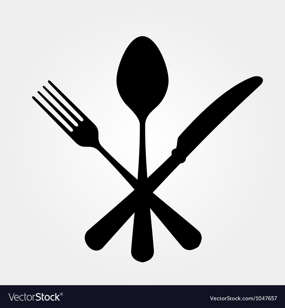 Black cutlery vector