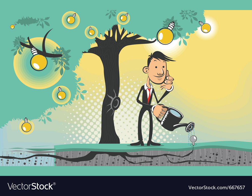 Idea tree vector