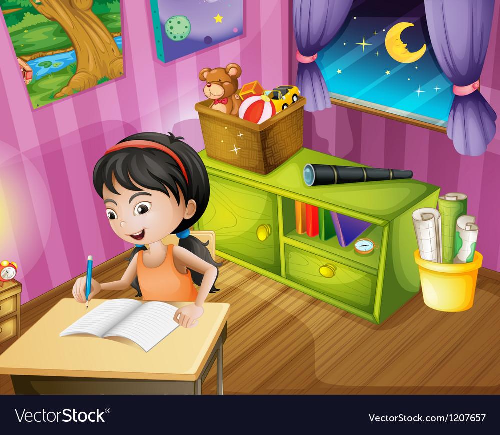 Student homework vector