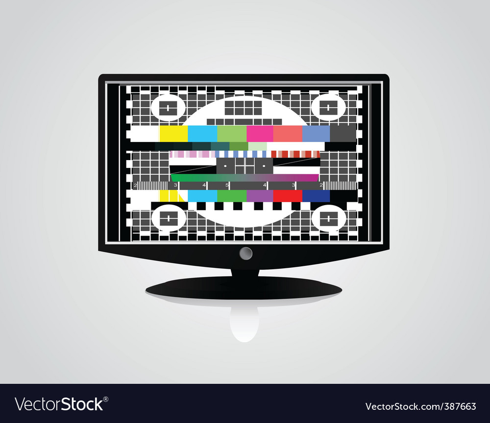Tv monitor vector