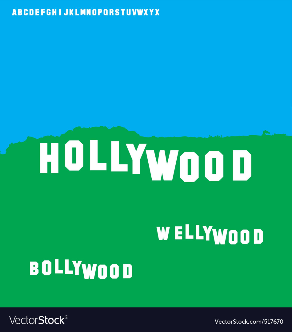 Free wellywood sign vector