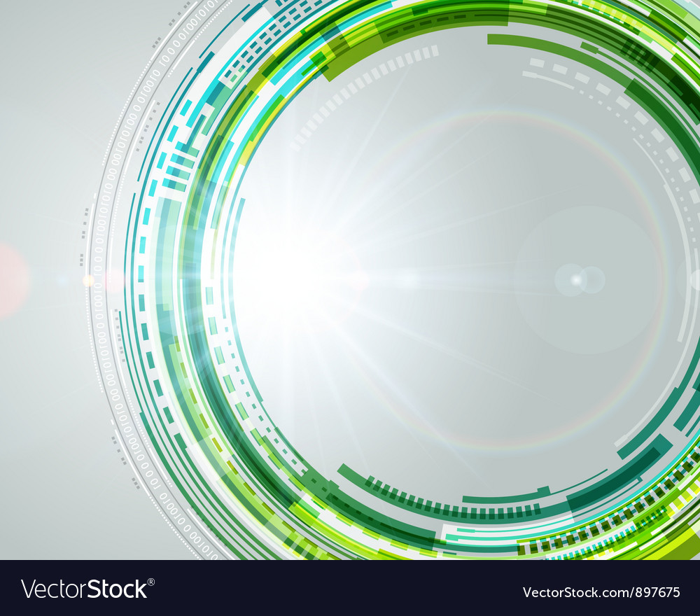Abstract technology circles and light effects vector