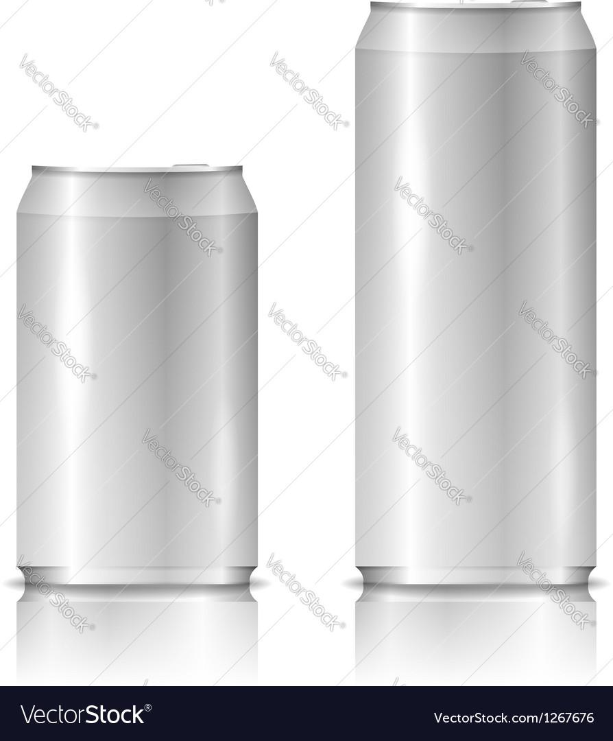 Aluminum cans vector