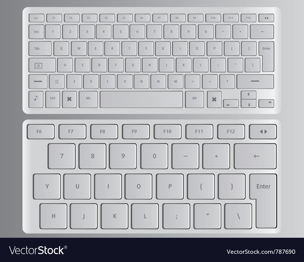 Keyboards white vector