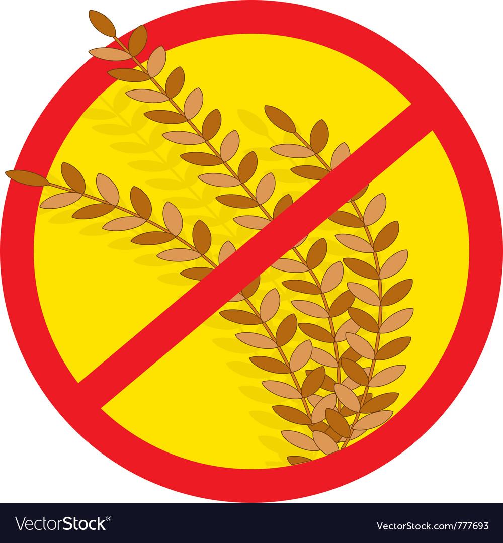 No wheat vector
