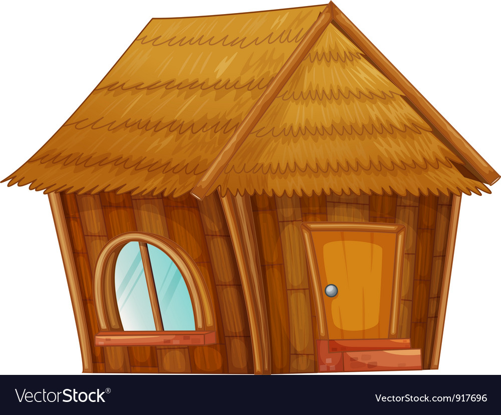 Cartoon hut vector