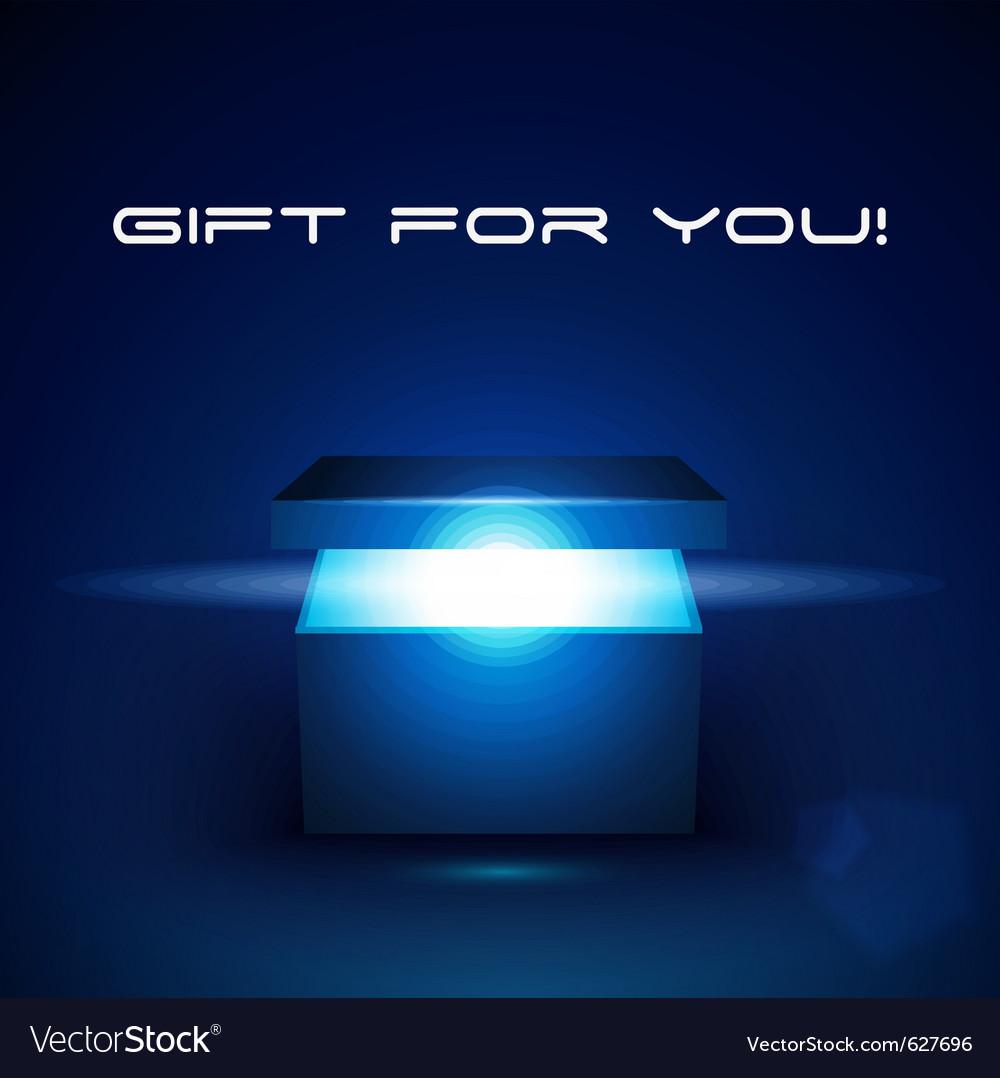 Magic gift box vector