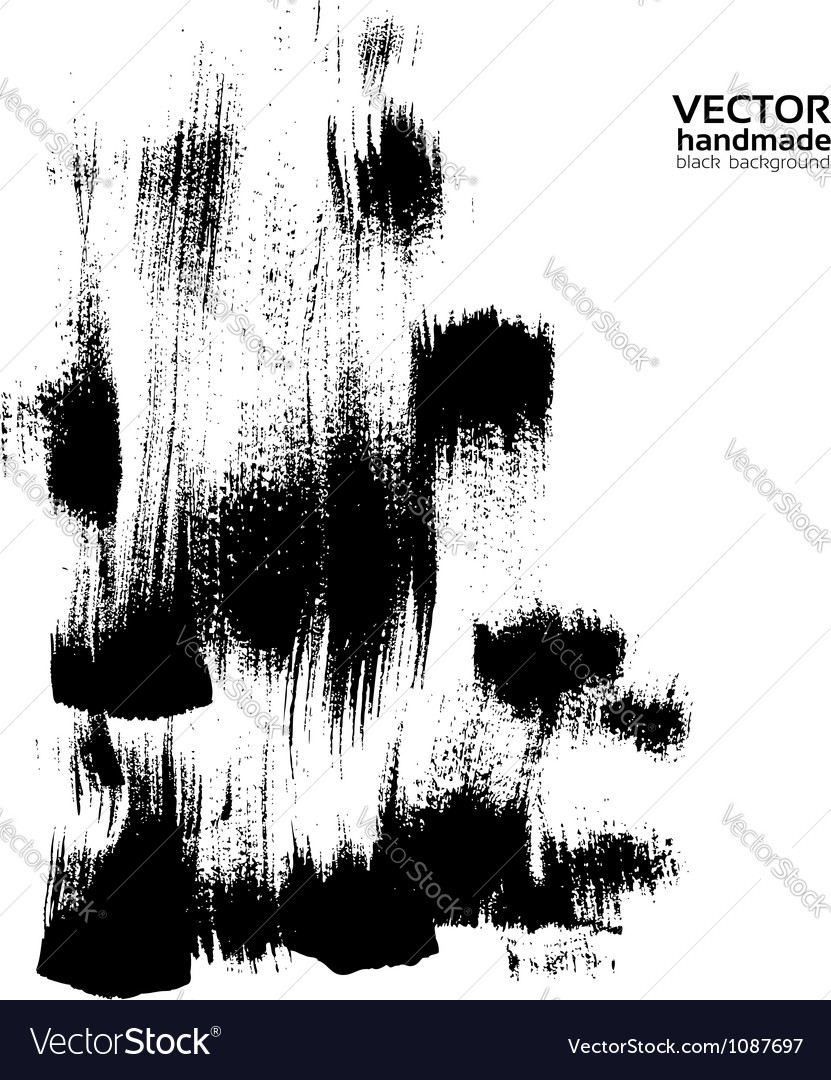 Handmade abstract brush strokes banner vector