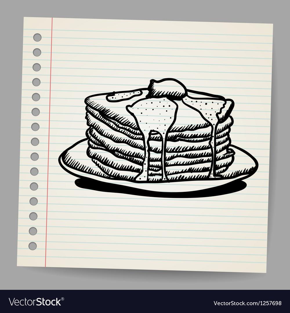 Pancake doodle vector