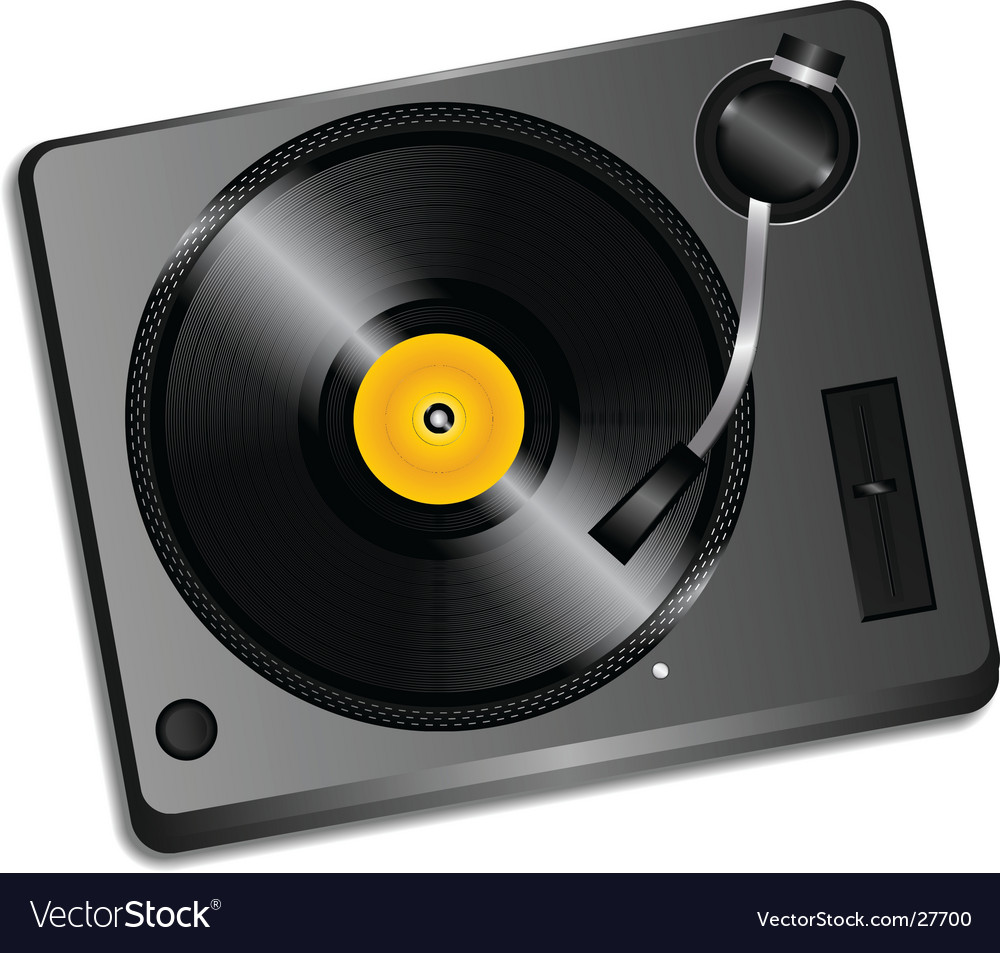 3d record deck vector