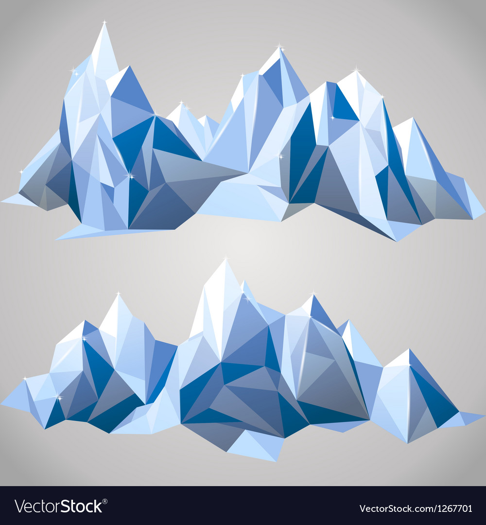 Paper mountains vector