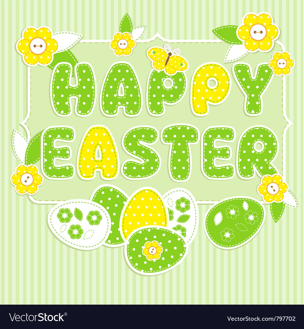 Greeting card for easter vector