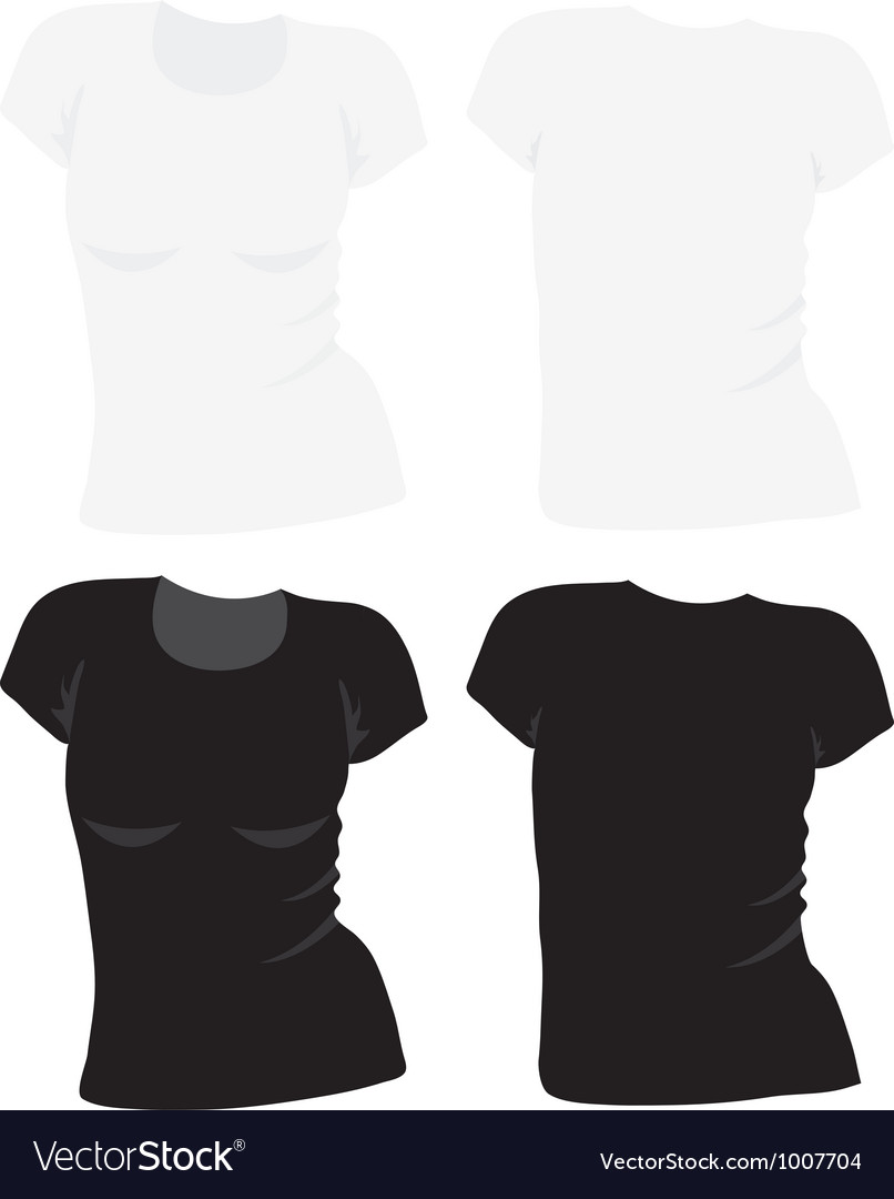 Womens t-shirt template vector