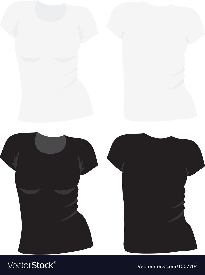 Womens tshirt template vector