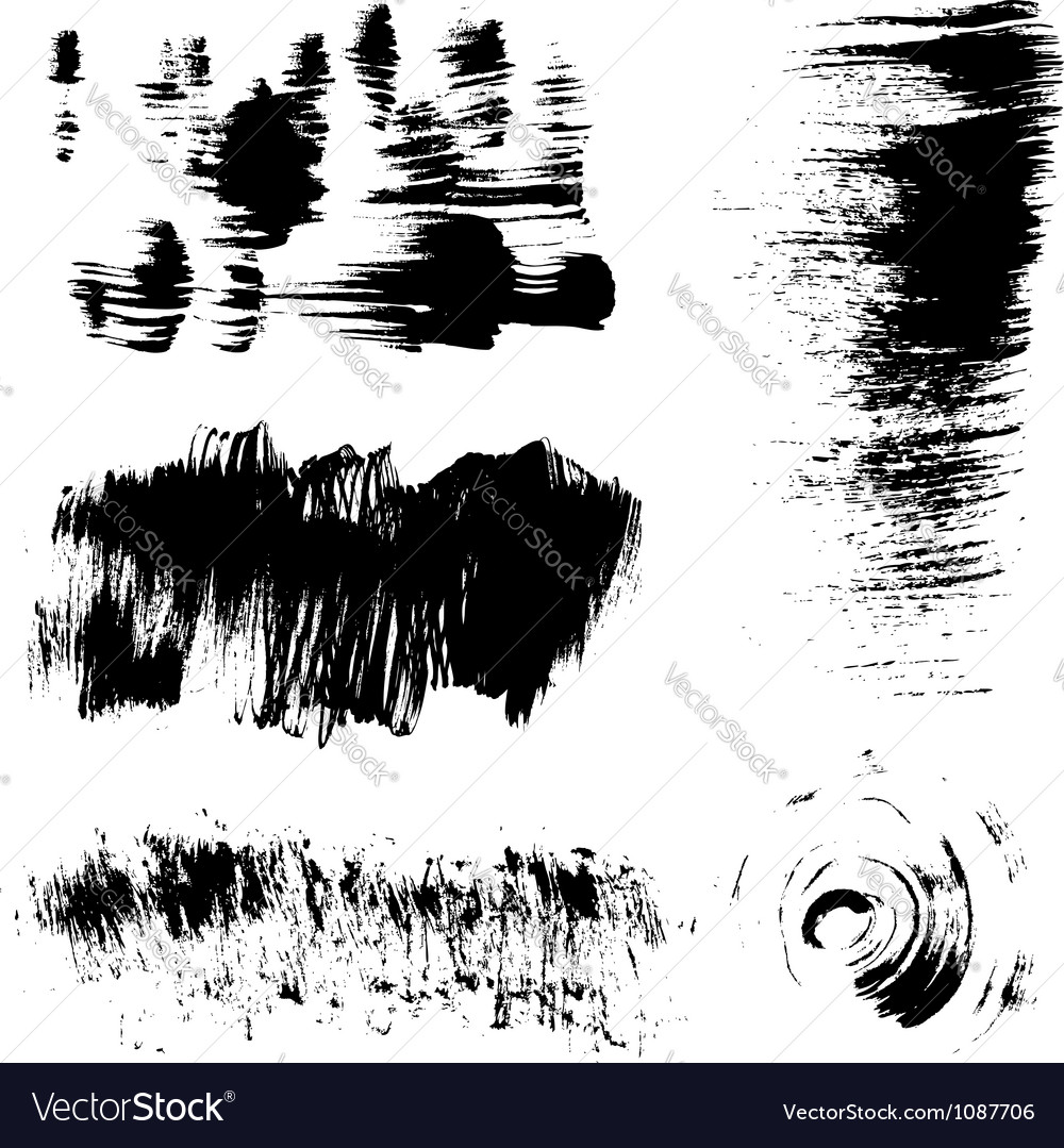 Hand-drawing texture stiff brush strokes vector