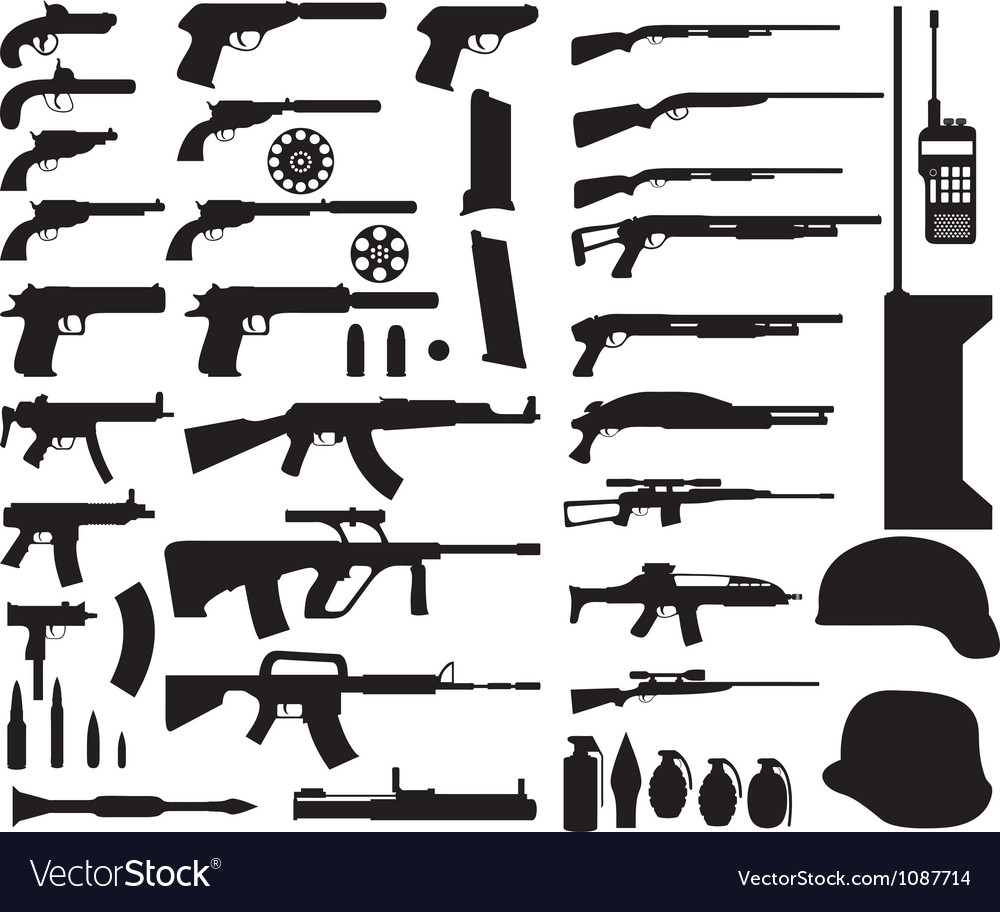 Army armament vector