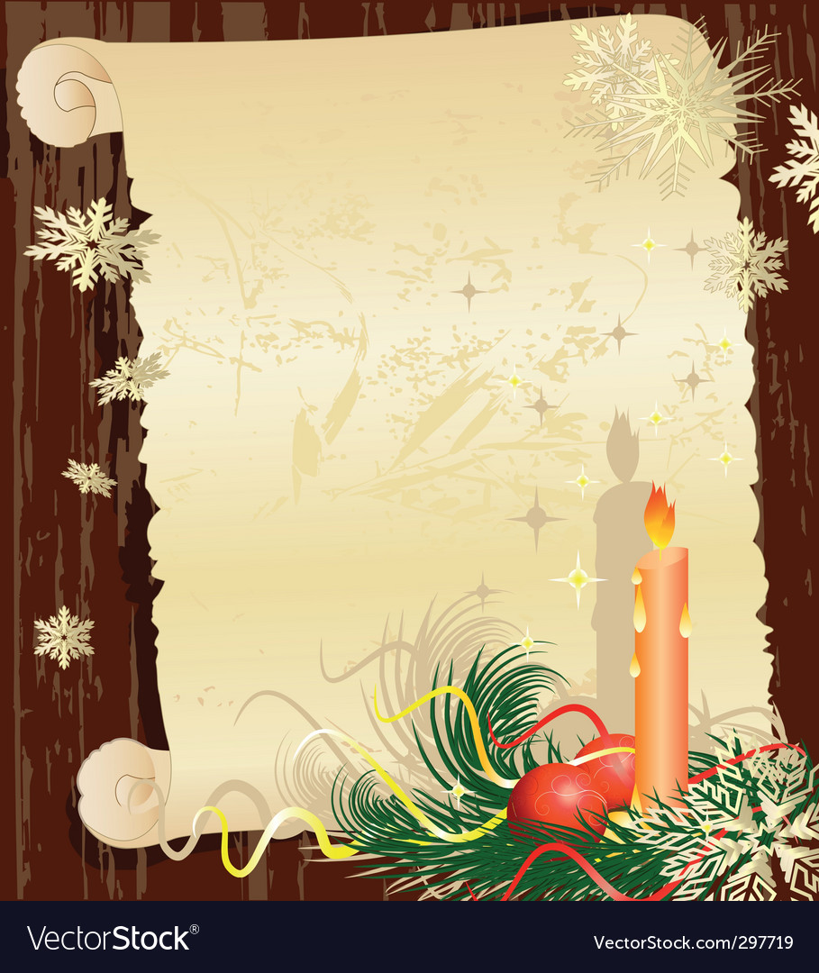 Christmas letter grunge vector by ksym - Image #297719 - VectorStock