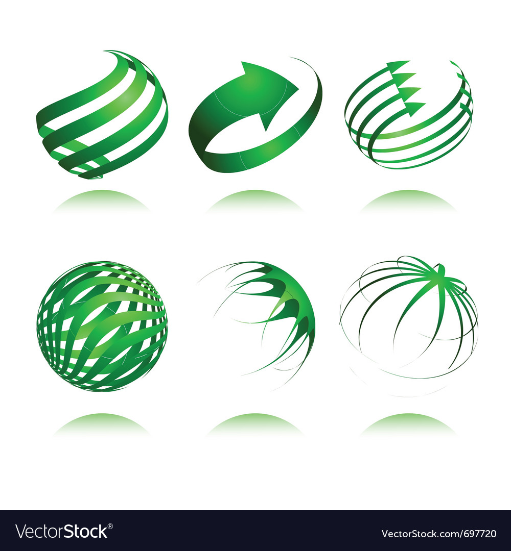 3d abstract design vector