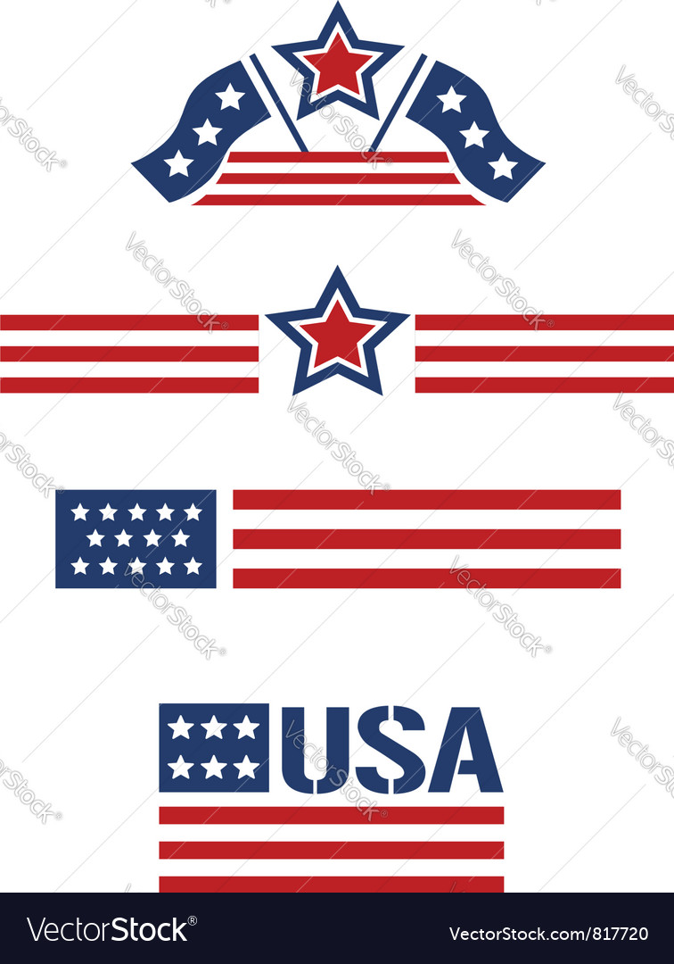 Usa set vector