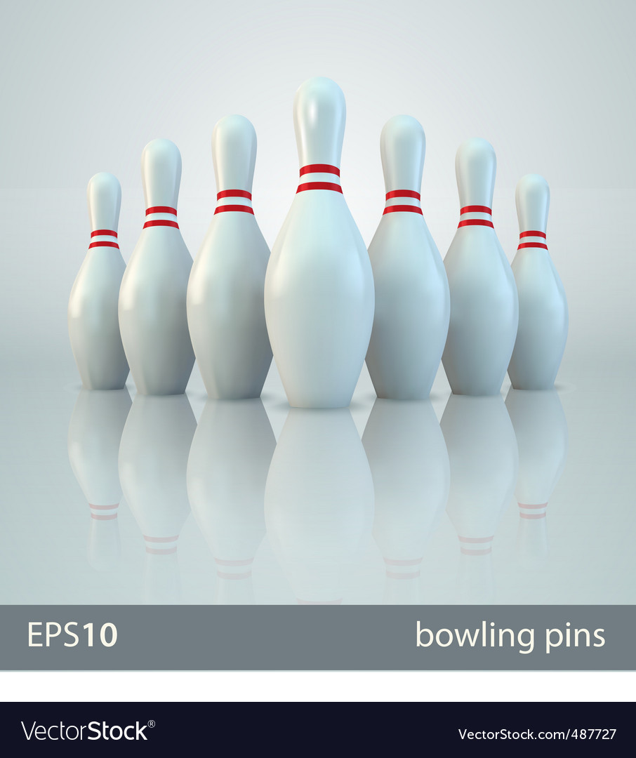 bowling pins vector