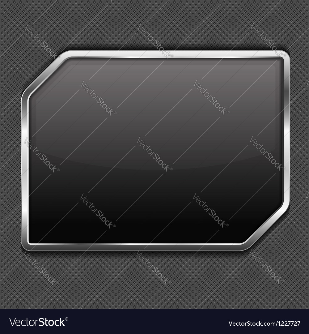 Metal frame vector