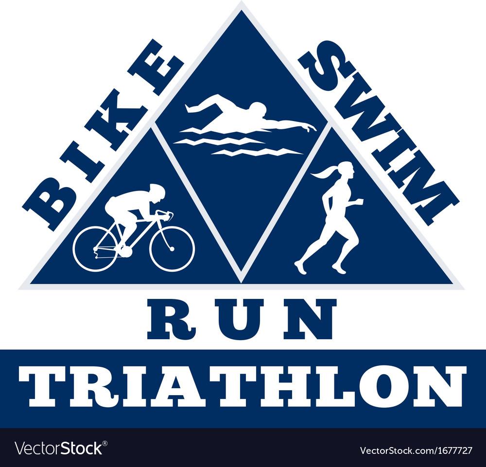 Triathlon swim bike run race vector