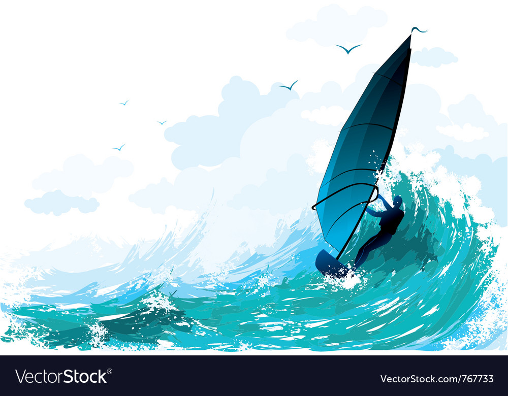Sailboarding vector