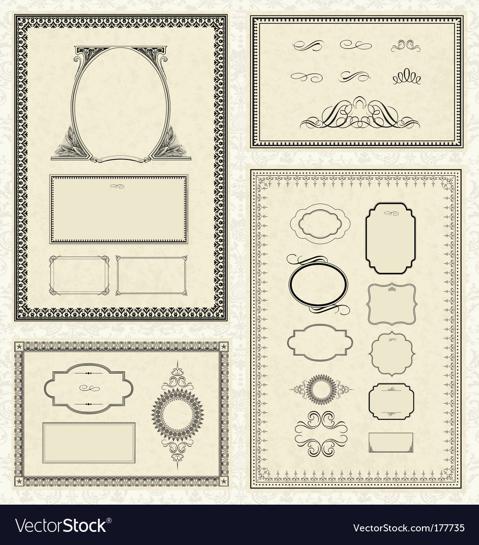 Frames borders vector
