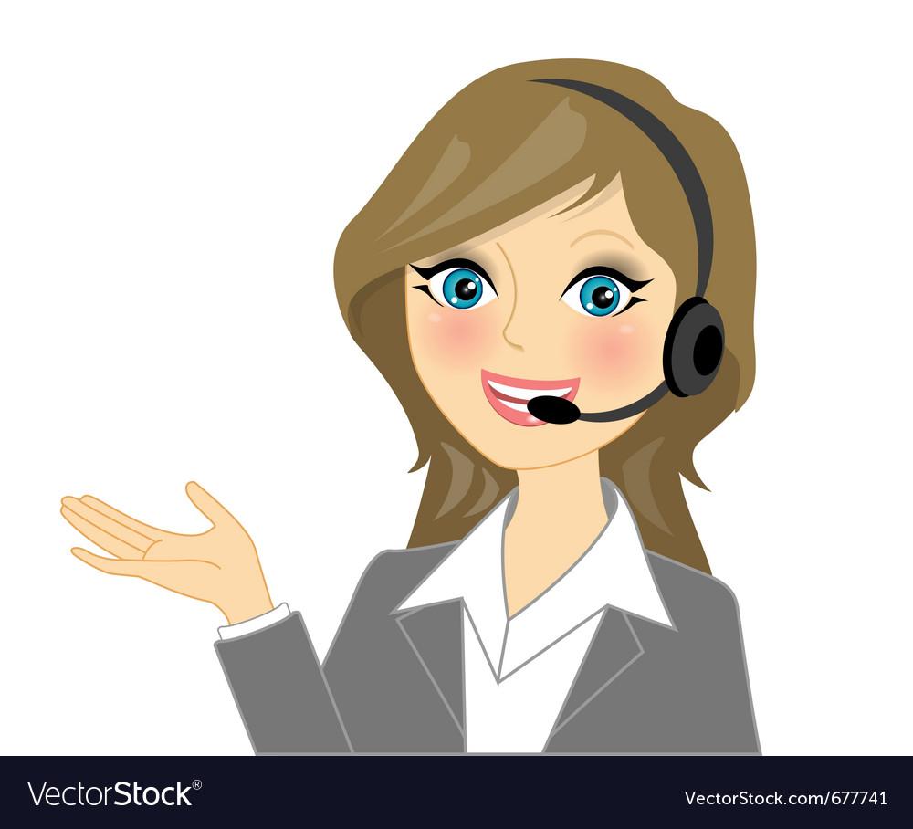 Telephone operator vector