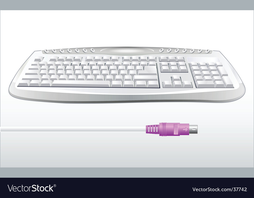 Modern keyboard vector