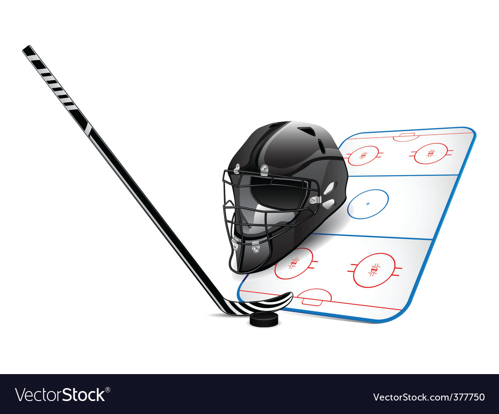 Hockey design elements vector