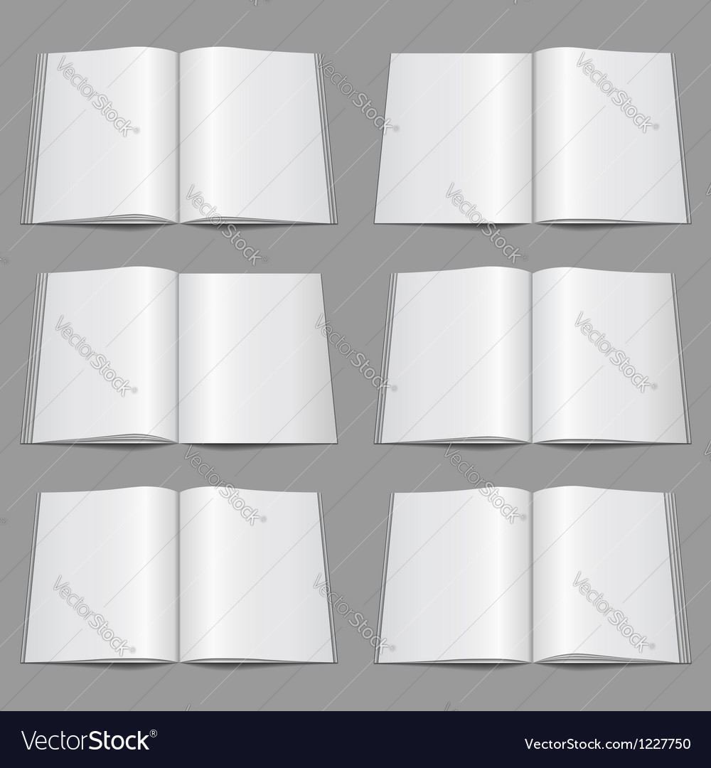 Magazine templates vector