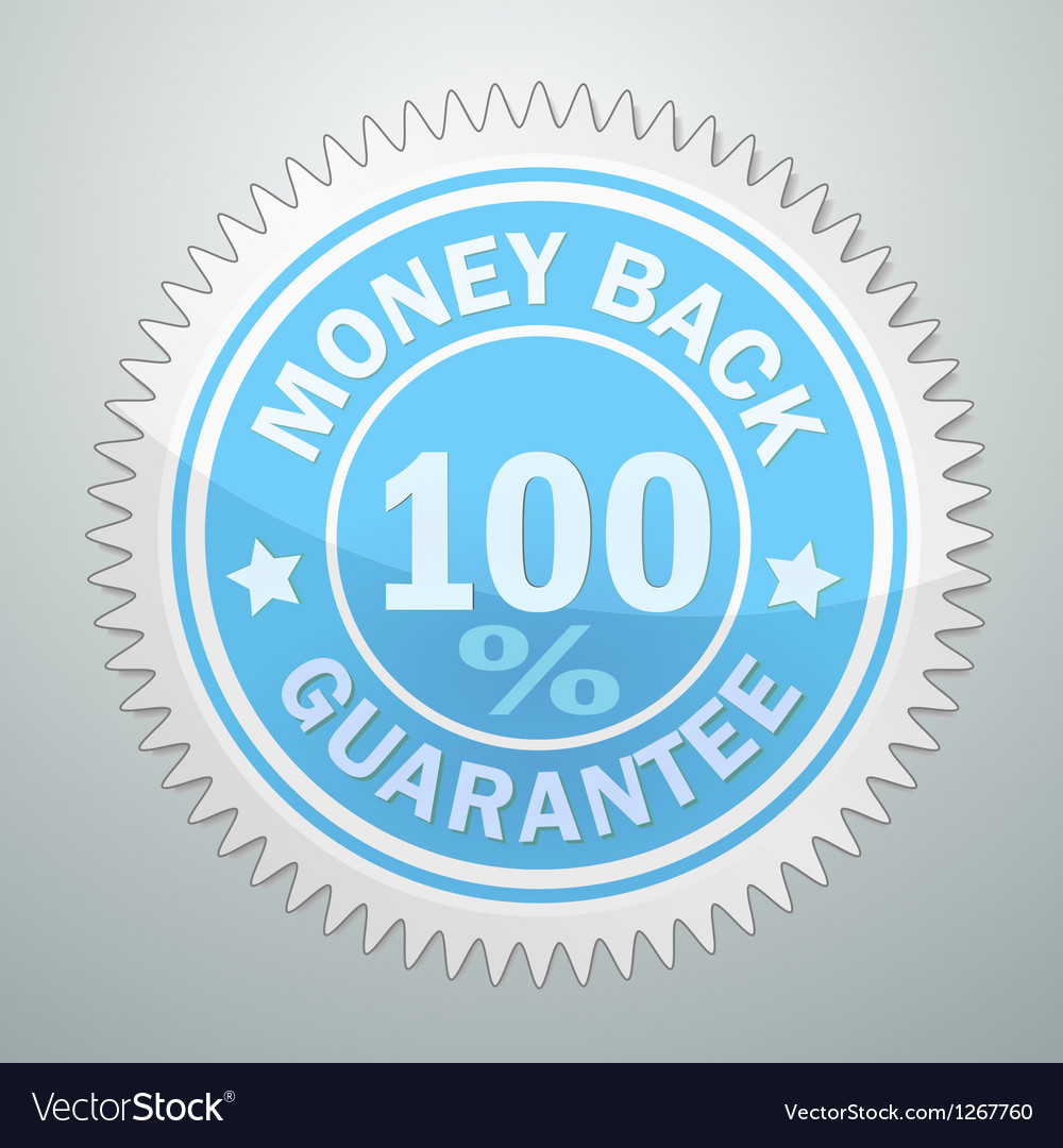 Badge of money back guarantee vector