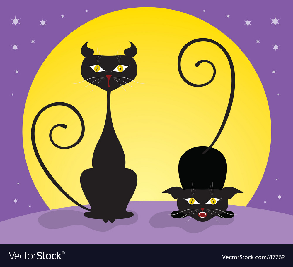Black cats vector by Antonuk - Image #87762 - VectorStock