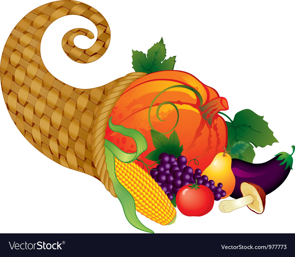 Horn of plenty vector