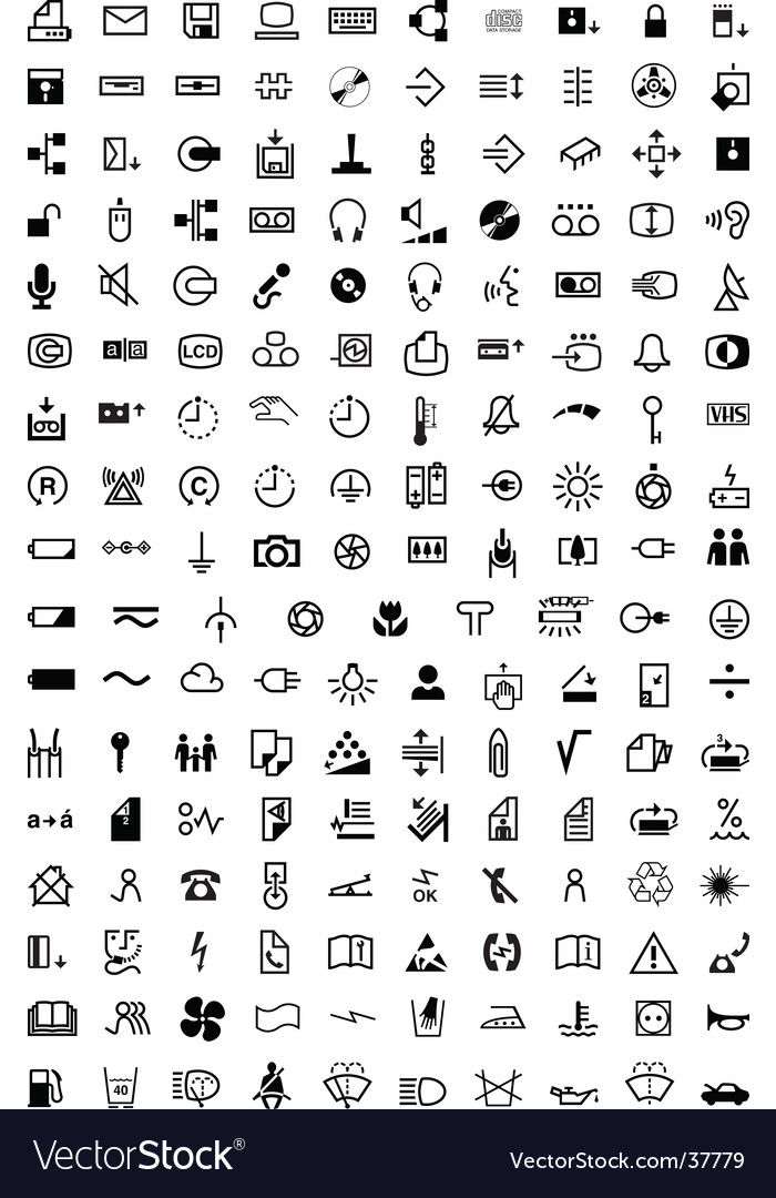 Symbol collection 170 symbols vector