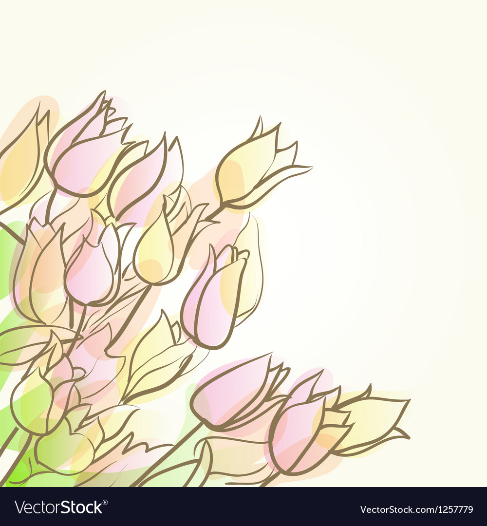 Tulips abstract background vector